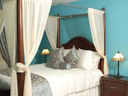 Teal White Bedroom Curtains Sheer Curtains For Canopy Bed Amys Office