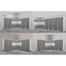 new age pro series cabinets newage pro series 15 piece garage corner cabinet set in white 52560