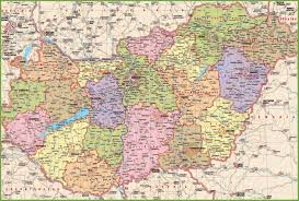 Hungary Map Europe by Large Detailed Map Of Hungary With Cities