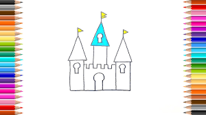 how to draw castle coloring pages learn colours u0026 learn to