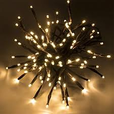 how to string lights on a tree amazon com flexible led branches string lights outdoor fairy lights