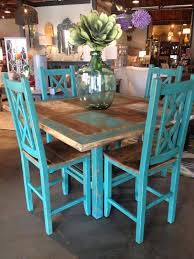 Teal Dining Table Creative Painted Kitchen Table Search Kitchen