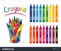 School Desk Organizers by Crayons 18 Rainbow Colors Back School Stock Vector 561274888