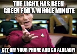 Get Off The Phone Meme - traffic captain picard imgflip