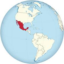 Mexico On Map File Mexico On The Globe Americas Centered Svg Wikimedia Commons