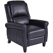 Black Leather Recliner Giantex Pu Leather Recliner Chair Push Back Club
