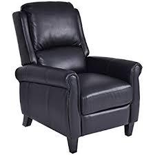 amazon com lloyd black leather recliner club chair kitchen u0026 dining