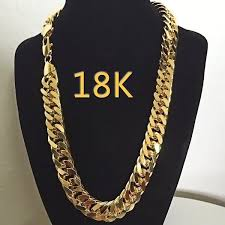 gold filled necklace set images 18k gold mens jewelry set 24k yellow gold filled heavy solid jpg