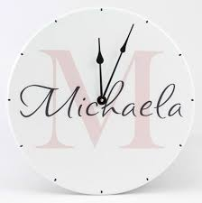 Personalized Clocks With Pictures Girls Room Decoration Personalized Many Styles American