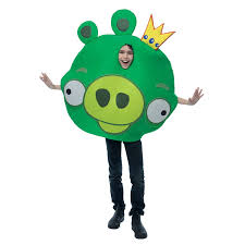 amazon com angry birds king pig green costume clothing