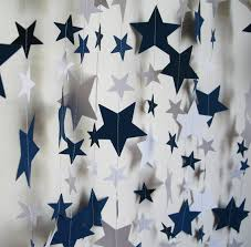 paper garland 14ft navy and white by polkadotshop on etsy