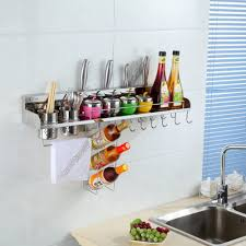 stainless steel spice rack for wall bottle holder towel hanging