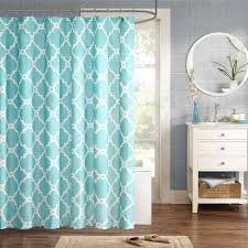 Blue And White Window Curtains Bathroom Wondrous Shower Curtain Walmart With Alluring Design For