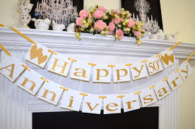 anniversary decorations 50th anniversary paper products blackbird designs