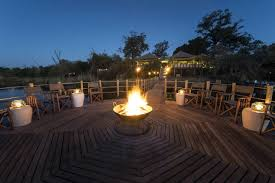 Floating Fire Pit by Dumatau Camp Botswana Tented Camp Accommodation