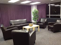 Purple And Grey Family Room House Design Ideas - Family room sets