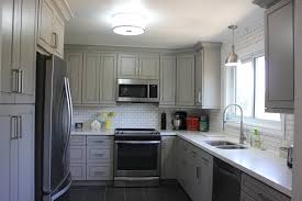 Kitchen Cabinets Gta Peterborough Family And Their Painted Grey Kitchen Cabinets With