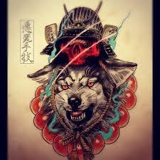 samurai wolf tattoo design best tattoo designs