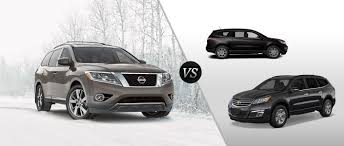 pathfinder nissan black 2014 nissan pathfinder vs 2014 chevy traverse nissan pathfinder