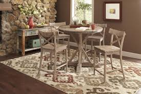 36 round bar height table largo callista rustic casual round dining table and side chair set