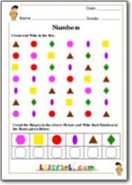 worksheets for class 1 shapes counting worksheet worksheets for grader teach