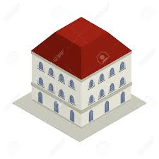 victorian style house isometric drawing of a victorian style house royalty free cliparts