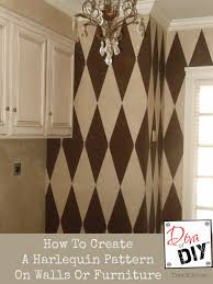 how to create a harlequin pattern on walls or furniture recipe