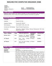resume format pdf for computer engineering freshers resume computer operator resume therpgmovie