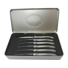 batterie cuisine laguiole coffret 6 couteaux laguiole inox jean dubost set de couteaux et