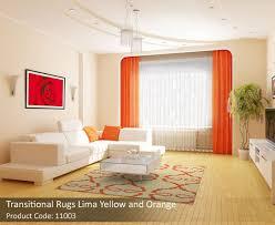 Orange Modern Rugs Modern Rugs Add Grace To Living Room Floors
