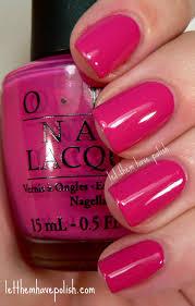 let them have polish pink wednesday o p i pink flamenco
