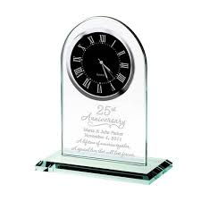 personalized anniversary clocks anniversary personalized glass clock