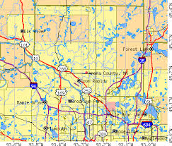 mn counties map anoka county property map my
