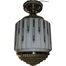 art deco flush mount ceiling light fixture from