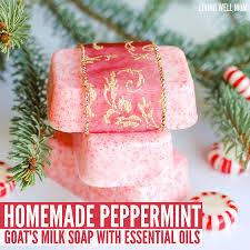 homemade peppermint goat milk soap