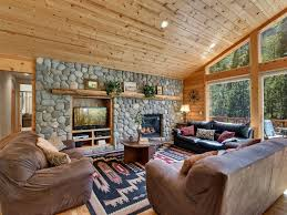 Large Living Room With Fireplace And Tv Large Log Home Views Game Room W Bar Homeaway Christmas