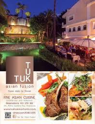 tuk tuk cuisine tuk tuk fusion nueva andalucia restaurant reviews phone