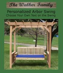personalized deluxe decorative arbor swing bed