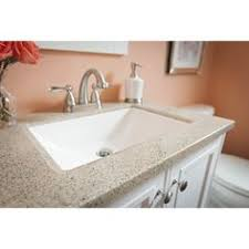 Solid Surface Bathroom Vanity Tops Shop Style Selections Dune Dune Solid Surface Integral Single Sink