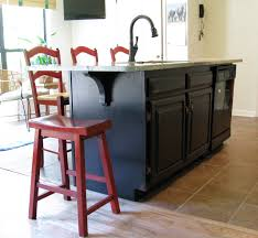 Distressed Island Kitchen by Cabinets