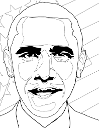 barack obama coloring page handipoints