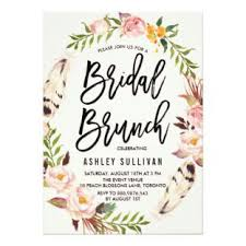 bridal brunch invitations bohemian bridal shower invitations galet press