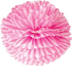 pink tissue paper fuchsia pink striped 15 inch tissue paper flower pom pom bazaar