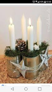 centro tavola con candele diy and crafts pinterest xmas