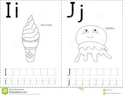 Free Alphabet Tracing Worksheets Cartoon Ice Cream And Jellyfish Alphabet Tracing Worksheet Wri