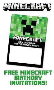 minecraft birthday invitations free printable minecraft birthday invitations eventticketsprinting co