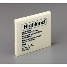 highland self sticking note pads mmm6549yw