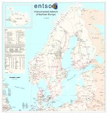 map northern europe scandinavia map of the scandinavian 400kv power grid transmission lines are