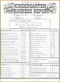 report card format template kindergarten report card template template s