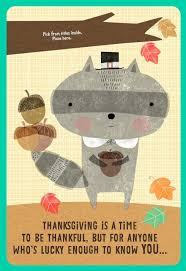 raccoon pilgrim a title thanksgiving card greeting